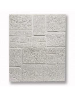 САМОЗАЛЕПВАЩО PVC ПАНО 70/70/8  бели камъни