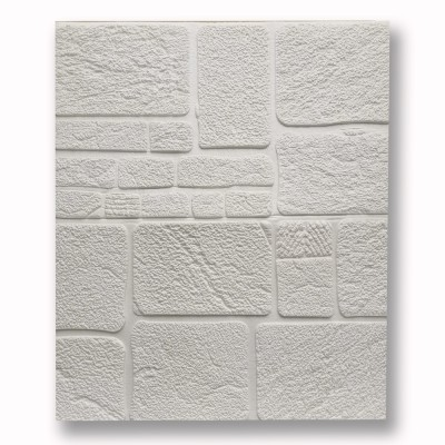 САМОЗАЛЕПВАЩО PVC ПАНО 70/70/8  White камъни